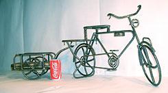 自転車の 自転車 サイズ 全長 : 自転車+リヤカー:全長1.100mm